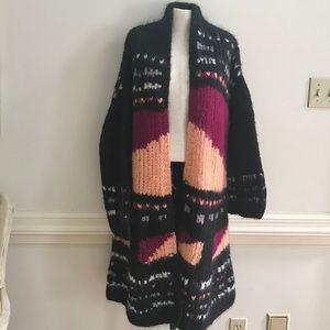 NEW Free People long alpaca sweater size M L